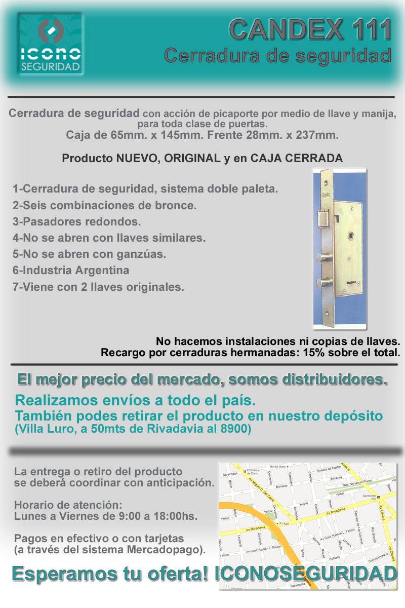 Candex 111 cerradura de seguridad el mejor precio 770 0 - Cerraduras de seguridad precios ...